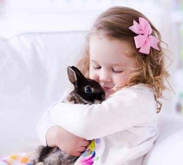 Kanin og pige
